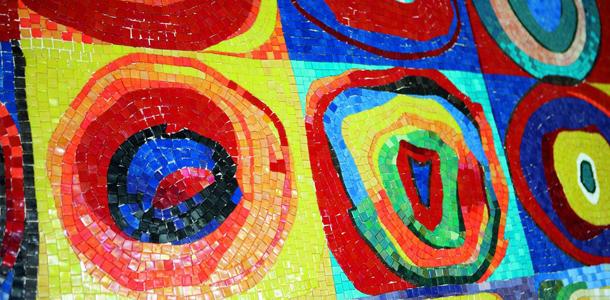 Mozaikowe obrazy na ścianę