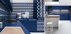 Niebieskie meble w kuchni