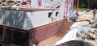 Podwójna izolacja ścian piwnic