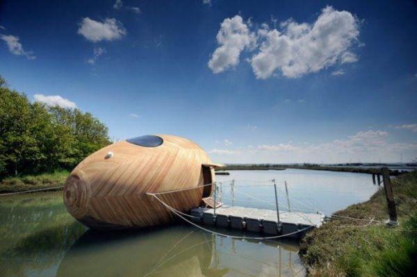 Domy drewniane na wodzie