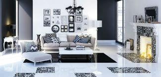 Czarno-biały dekor w marokańskim klimacie