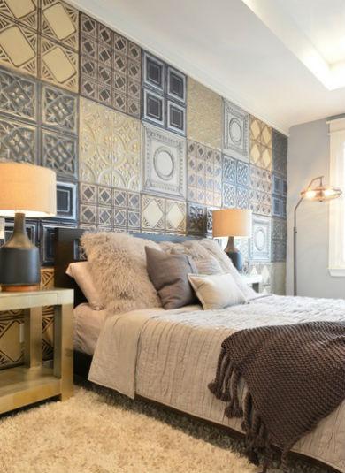 Nietypowa dekoracja ściany z kafli ceramicznych, fot.: Contourinteriordesign
