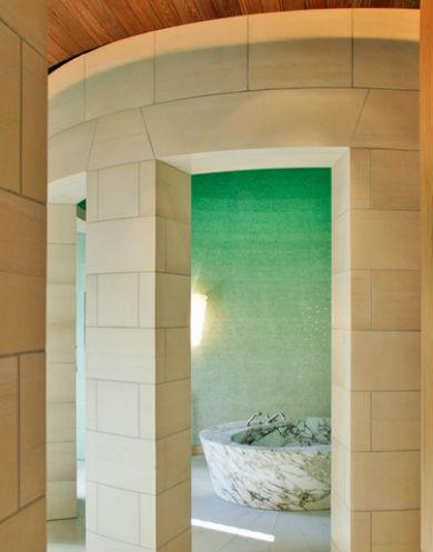 Ściana ombre wykonana z mozaiki, fot.: bararch.com