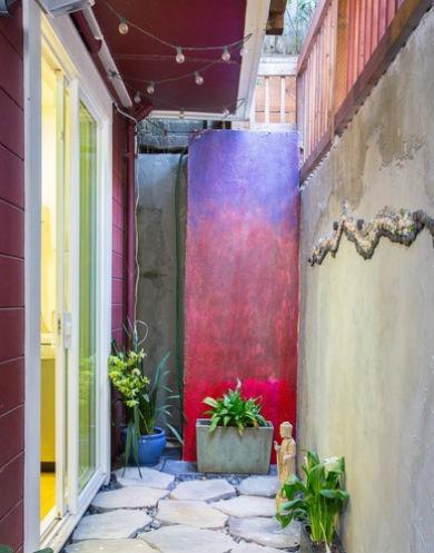 Kolorowa ściana ombre, fot.: garciaarchitects.com