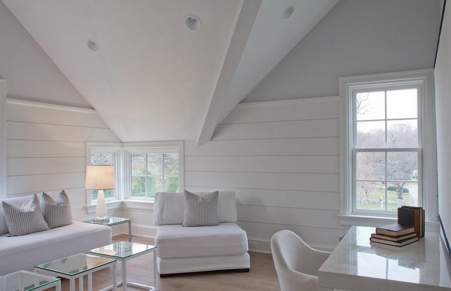 Biała boazeria, fot.: Vincente Burin Architects