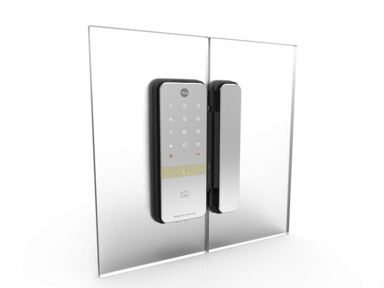 Elektroniczny zamek YDG313 marki Yale do szklanych drzwi
