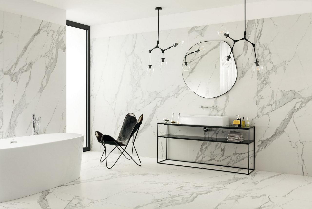 Biała łazienka w stylu modernistycznym
