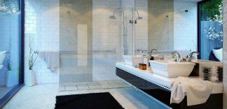 Łazienka w stylu retro glamour
