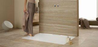 Płaski brodzik w łazience